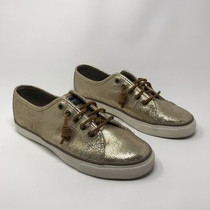Sperry Top-sider Seacoast Gold Metallic Sneakers